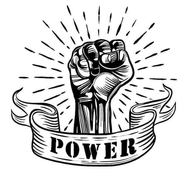 Proletarian protest symbol Premium Vector