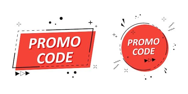 Premium Vector   Promo code, coupon code.