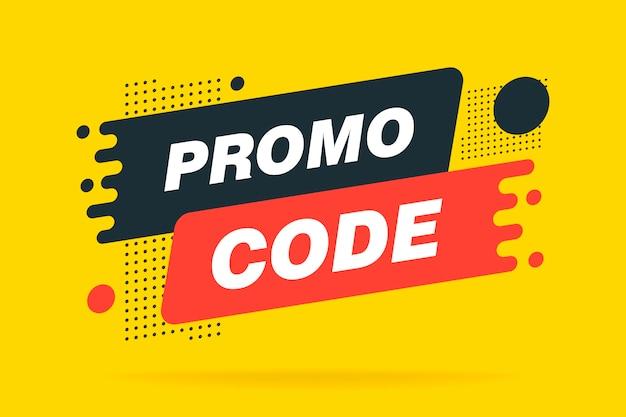 Premium Vector   Promo code, sale banner