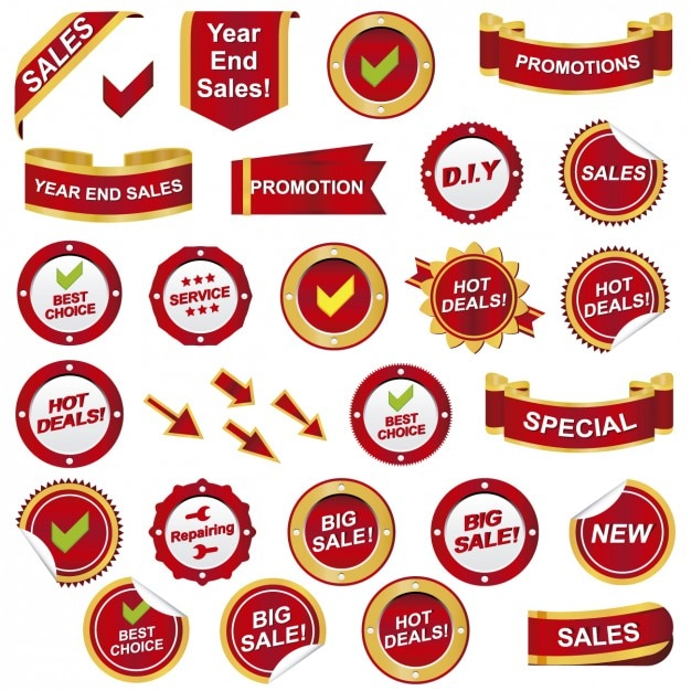 Promotion badges Free Vector