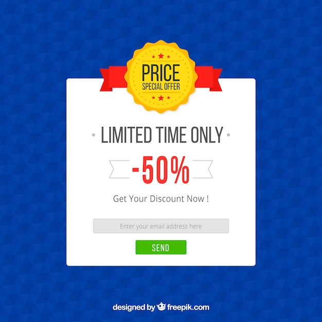 Promotion pop up template with flat design Free Vector