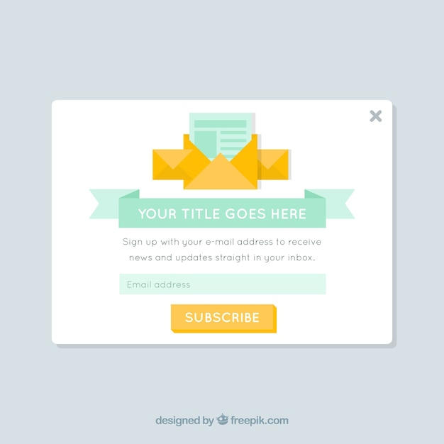 promotion pop up template vector free download