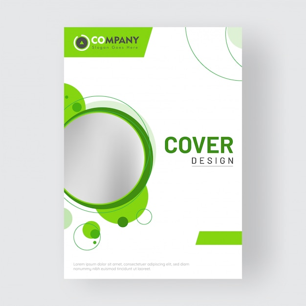 Promotional business cover design Premium Vector