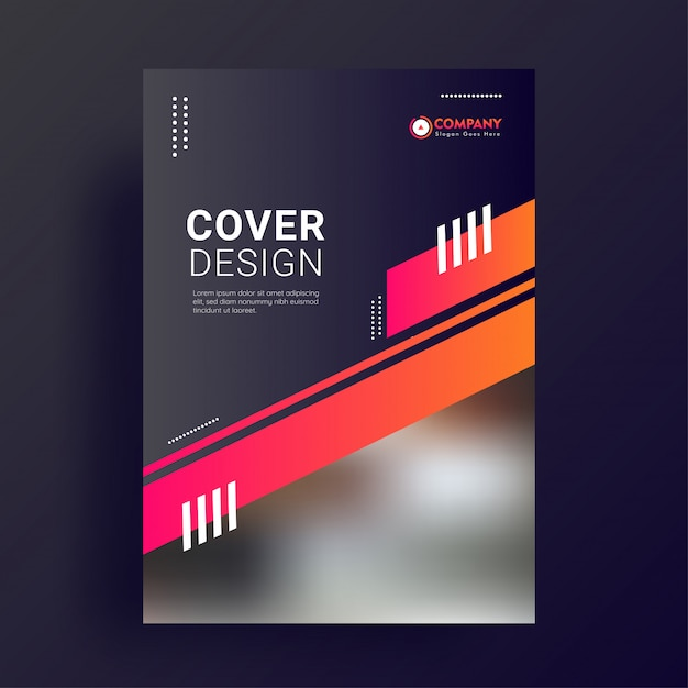 Promotional cover page template. Premium Vector