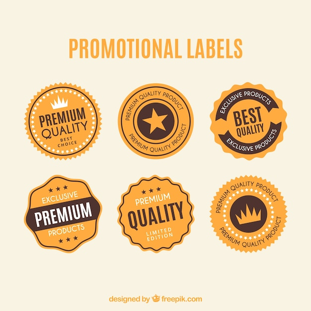 Promotional dirty labels Free Vector