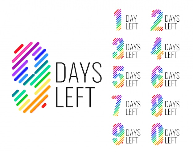 Promotional number of days left countdown banner Free Vector