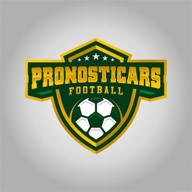 Pronosticars football esport logo Premium Vector