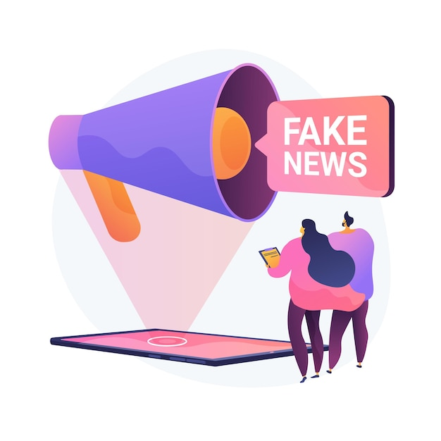 Propaganda in media. news fabrication, misleading information, facts manipulation. misinformed people, disinformation spread. fraud journalism. vector isolated concept metaphor illustration Free Vector