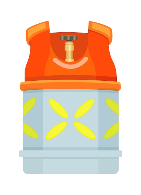 Propane bottle icon container Premium Vector