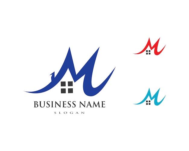 プロパティと建設ビジネスコーポレートサインのロゴデザイン Premiumベクター