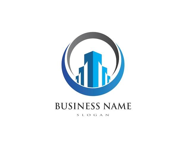 プロパティと建設ロゴ Premiumベクター