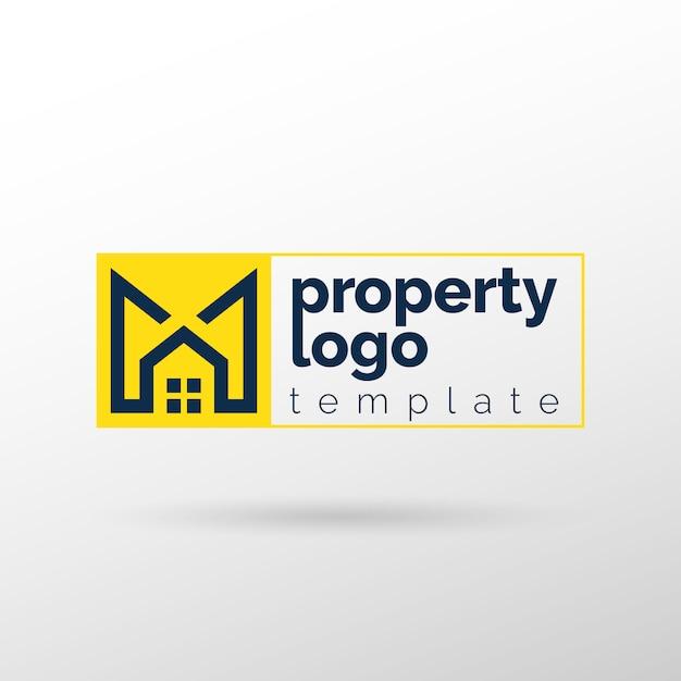 Недвижимость и недвижимость logo Premium векторы