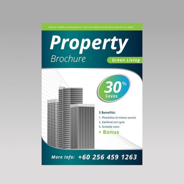 property brochure template vector premium download