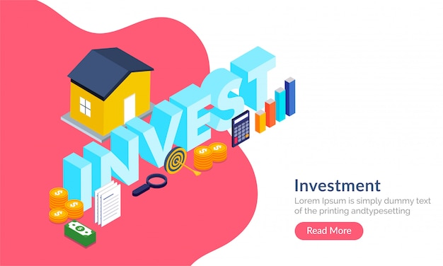 Property investment concept. Premium Vector