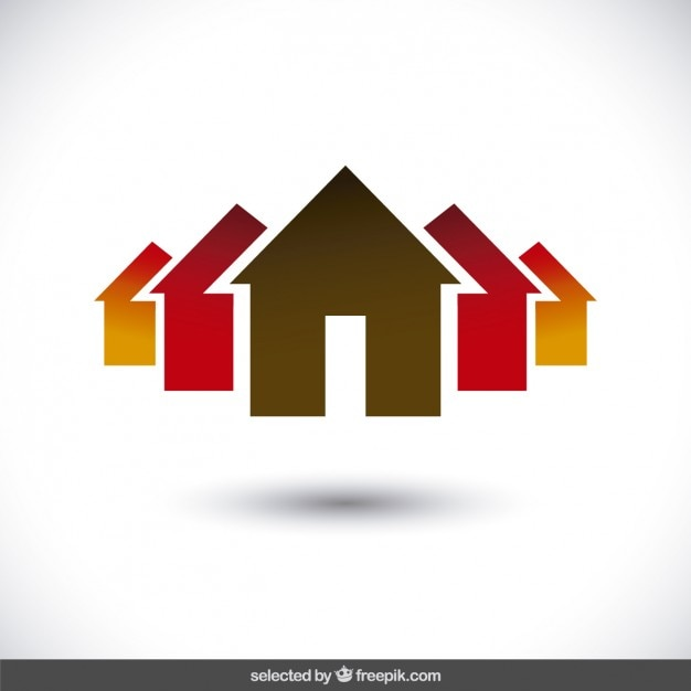 Property logo with house silhouettes Vector | Free Download