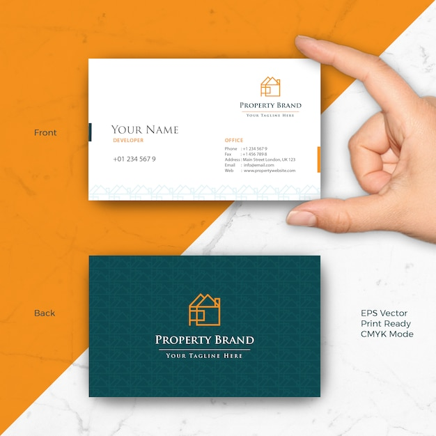Property real estate business card Vector | Premium Download
