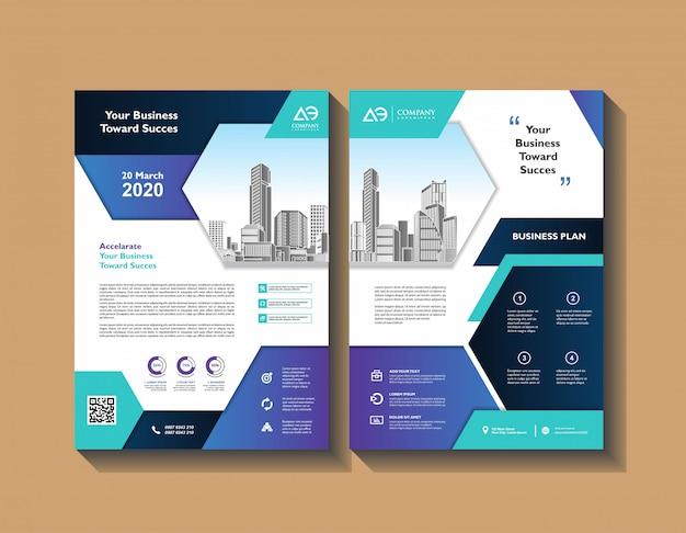 Предложение обложка постера брошюры шаблон дизайна set Premium векторы