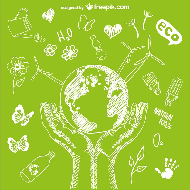 Protect the environment vector Free Vector