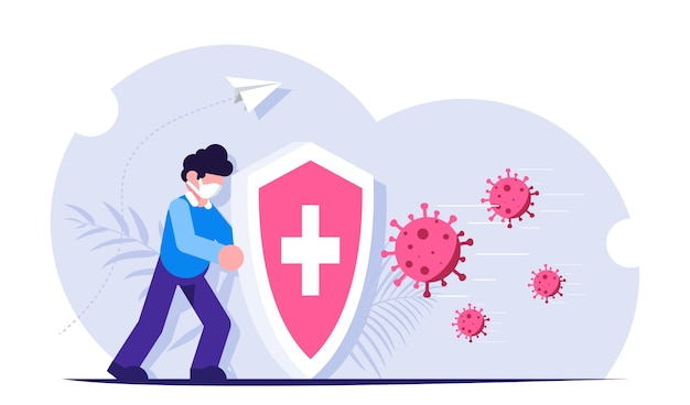 Защита от вирусов Premium векторы
