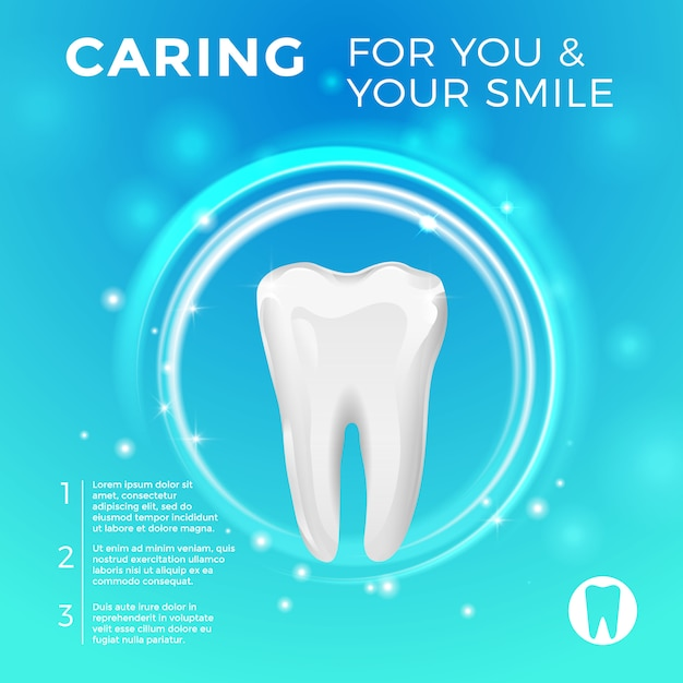Protection of healthy teeth. vector pictures for medicine Premium Vector