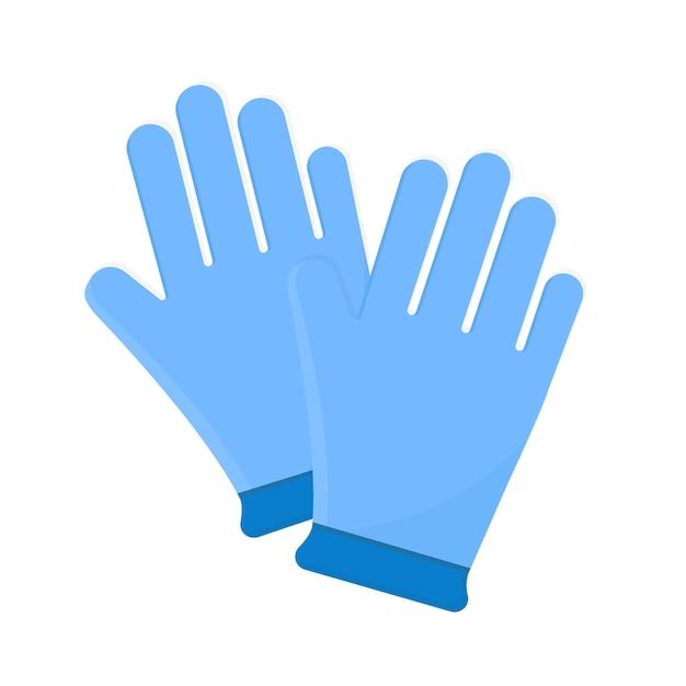 Защитные синие медицинские перчатки Бесплатные векторы