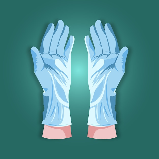 Protective gloves concept Free Vector