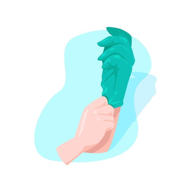 Концепция защитных перчаток Бесплатные векторы
