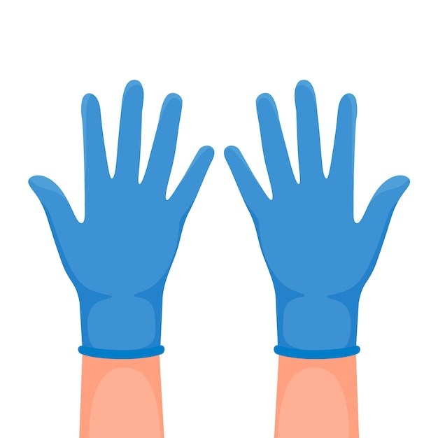 Protective gloves illustration Free Vector