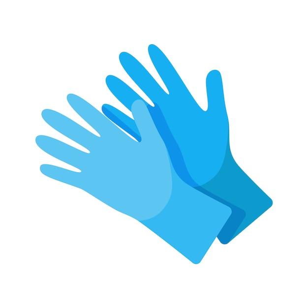 Концепция защитных хирургических перчаток Premium векторы