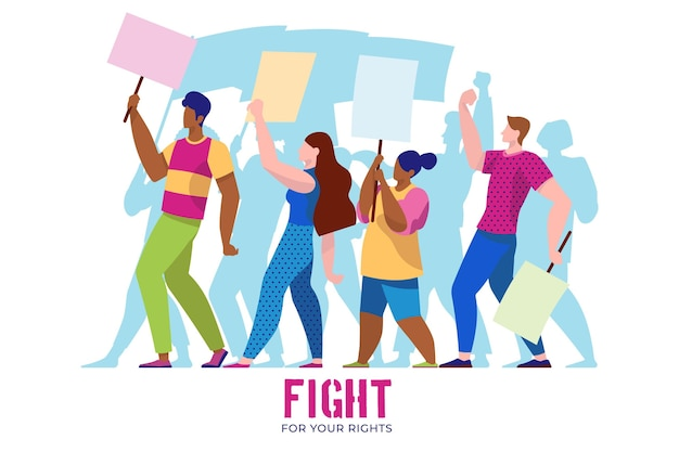 Protest against racism Free Vector