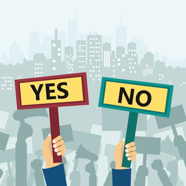 Protest in city Free Vector