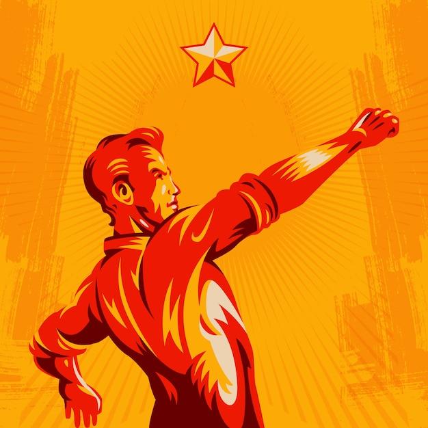 Protest fist revolution poster design Premium Vector