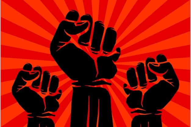 Protest rebel vector revolution art poster Premium Vector