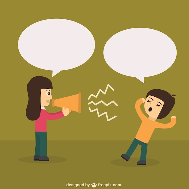 Protest with loudspeaker Free Vector