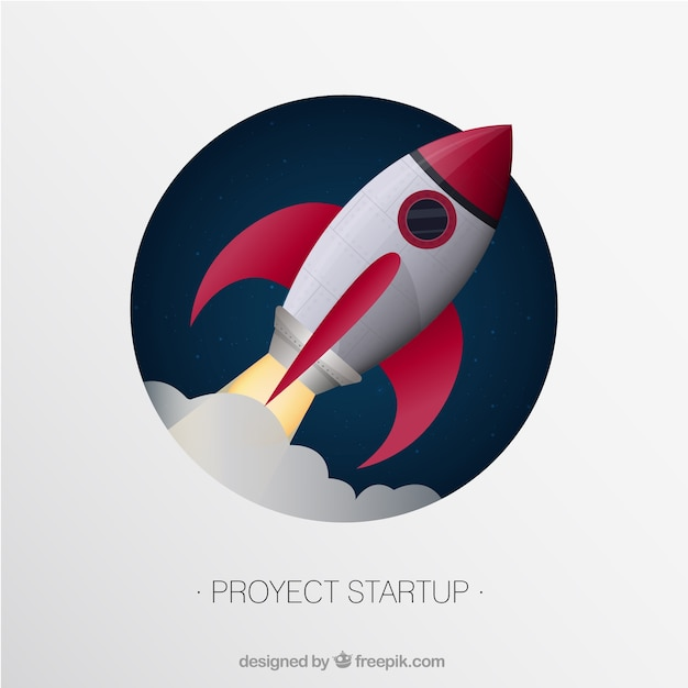 Proyect startup Free Vector