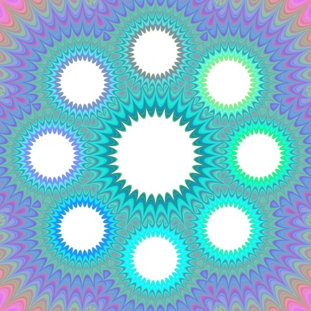 Psychedelic background with circles Free Vector