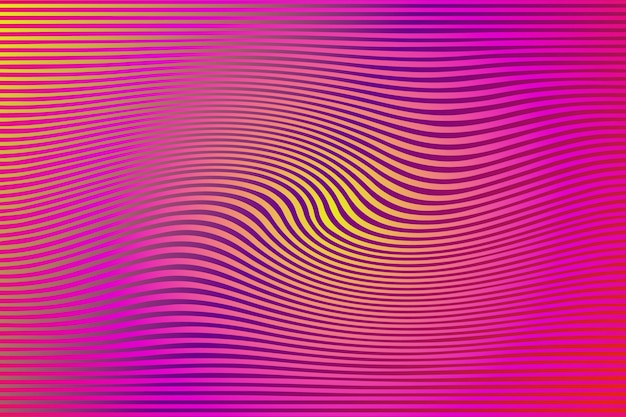 Psychedelic background with distorted lines Premium Vector