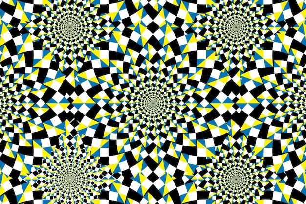 Sfondo psichedelico con illusione ottica Vettore gratuito