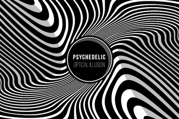 Psychedelic background Free Vector