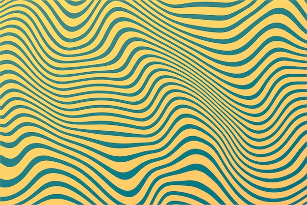 Психоделический заводной фон волнистые линии Бесплатные векторы
