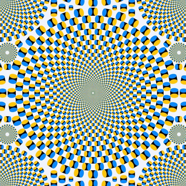 Psychedelic illusion wallpaper Free Vector