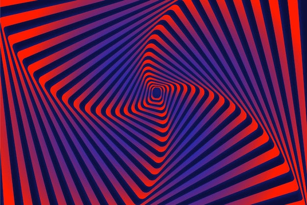 Psychedelic optical illusion background concept Free Vector