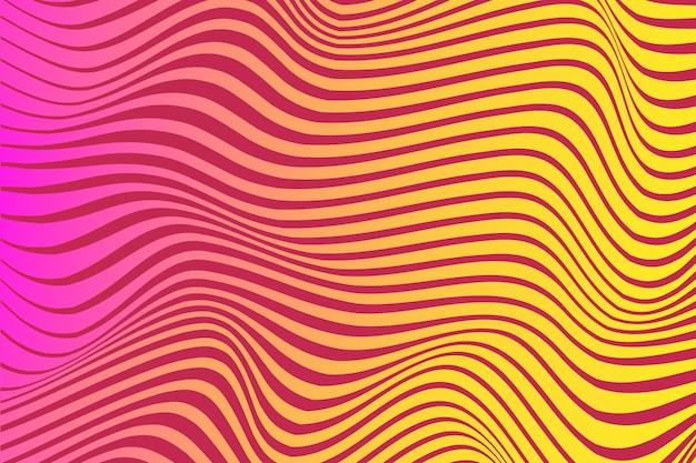 Illusione ottica psichedelica stile di sfondo Vettore gratuito