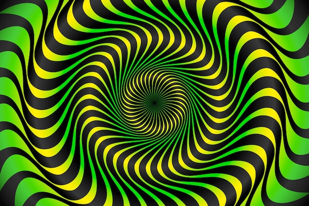 Psychedelic optical illusion background Premium Vector