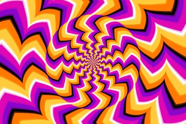 Psychedelic optical illusion theme Premium Vector
