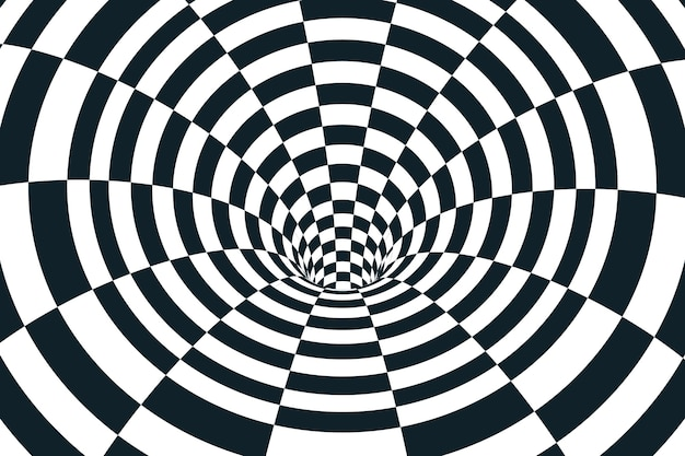Psychedelic optical illusion wallpaper concept Premium Vector