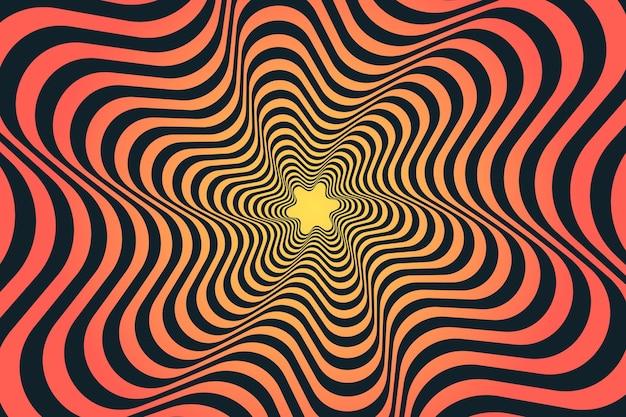 Psychedelic optical illusion wallpaper design Premium Vector