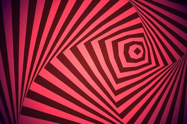 Psychedelic optical illusion wallpaper Free Vector