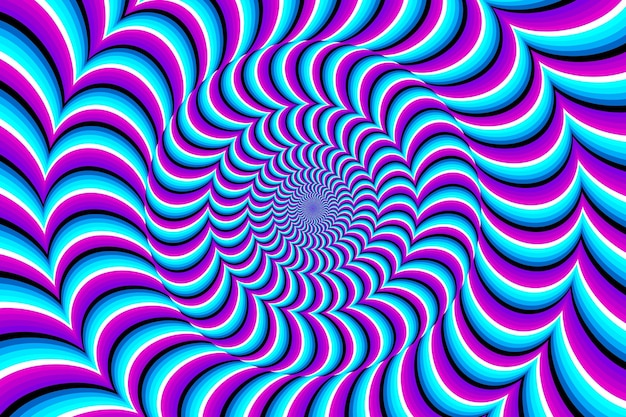 Psychedelic optical illusion Premium Vector