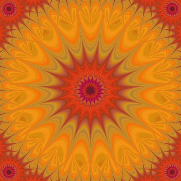 Psychedelic orange background Free Vector